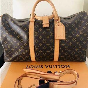 LOUIS VUITTONKEEPALL BANDOULIERE 50 W/ LV BOX